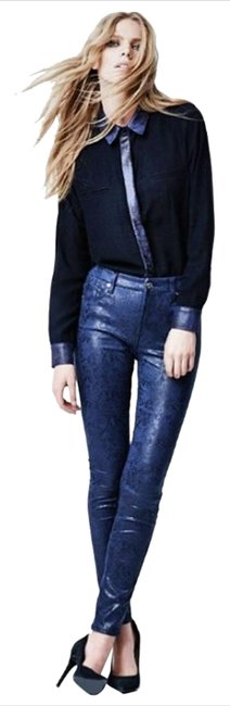 Item - Blue Coated - Skinny Jeans Size 26 (2, XS)