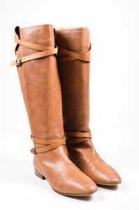 Chlo Chloe Strap Buckle Knee Brown Boots