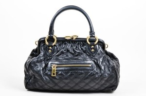 Marc Jacobs Quilted Chain Satchel in Black