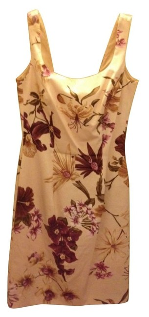Preload https://item4.tradesy.com/images/escada-whiteredfloral-workoffice-dress-size-8-m-1093-0-0.jpg?width=400&height=650
