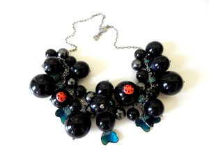 Swarovski Swarovski Enamel Butterflies & Ladybugs Crystal Beads Necklace