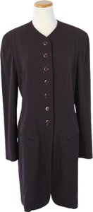 Donna Karan Dark Wool Up Purple Jacket