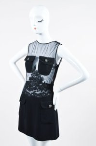 Other Vintage Istante By Gianni Versace Wool Silk Sheer Sheath Dress