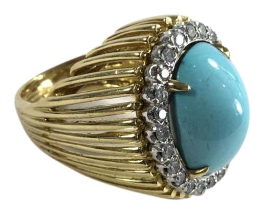 Preload https://item4.tradesy.com/images/yellow-gold-turquoise-in-with-a-halo-of-diamonds-ring-1093103-0-2.jpg?width=440&height=440