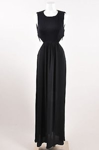Black Maxi Dress by BCBGMAXAZRIA Bcbg Maxazria Cage Back