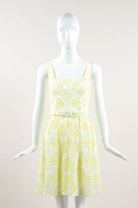 Christopher Kane short dress Yellow White Neon on Tradesy