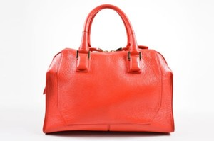 Narciso Rodriguez Leather Bowler Tote in Red