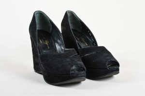 Robert Clergerie Suede Black Platforms