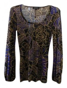 Karen Kane Top Brown and Blue