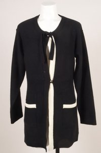 Sonia Rykiel Black Cream Wool Sweater