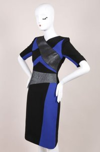 Peter Pilotto Cobalt Kia Color Wool Sheath Dress