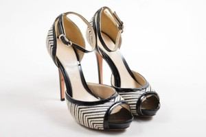Alexander McQueen Black White Multi-Color Pumps