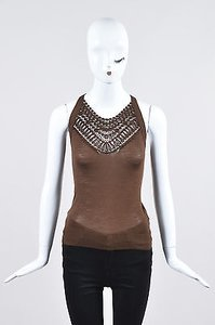 Gucci Wool Knit Top Brown