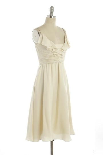 BHLDN Ivory Silk Spandex; Acetate Lining. Couplet Feminine Bridesmaid/Mob Dress Size 0 (XS)