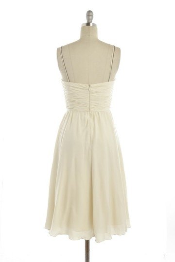 BHLDN Ivory Silk Spandex; Acetate Lining. Couplet Casual Bridesmaid/Mob Dress Size 4 (S)