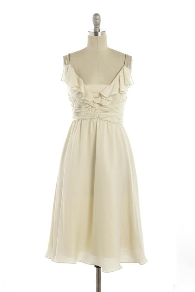 457f8e74a5 BHLDN Ivory Silk Spandex; Acetate Lining. Couplet Feminine Bridesmaid/Mob  Dress Size 12 ...