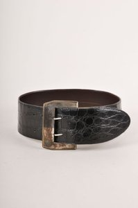 Vintage Axels Black Alligator Wide Belt