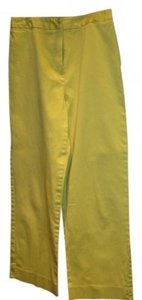 Samantha Sportswear Wide Legged Lime Green Wide Leg Pants Chartreuse