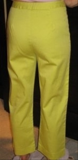 Samantha Sportswear Lime Green Wide Leg Pants Chartreuse