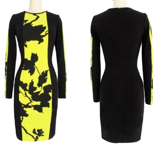 Preload https://img-static.tradesy.com/item/1093302/black-and-yellow-fitted-short-casual-dress-size-4-s-0-0-650-650.jpg