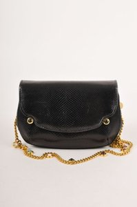 Judith Leiber Vintage Evening Wstone Embellished Chain Strap Black Clutch