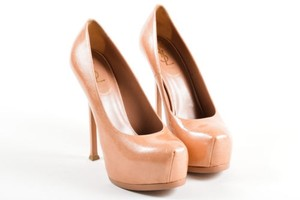 Saint Laurent Yves Light Clay High Heel Tribtoo 105 Pink Pumps