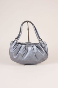Moschino Blue Silver Coated Shoulder Bag