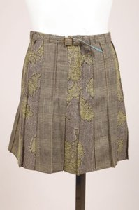 Etro Green Gold Metallic Skirt