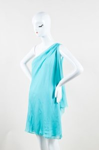 Halston short dress Blue Heritage Teal Silk on Tradesy