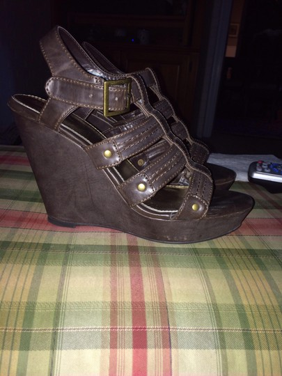 Xhilaration Brown Wedges
