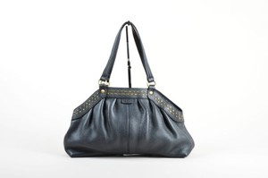 Hogan Pebbled Leather Tote in Black