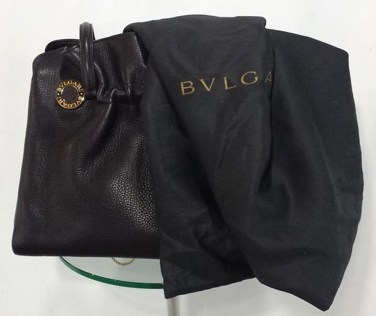 BVLGARI Pebbled Leather Shoulder Bag