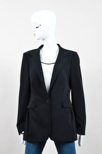 Piazza Sempione Piazza Sempione Black Wool Pleated One Button Blazer