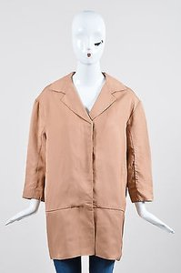 Marni Blush Nude Pleated Hem Blush-Nude Jacket