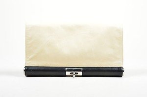 Dries van Noten Black Cream Clutch