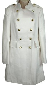 Victoria's Secret Military Style Double Breasted Ivory Pea Coat