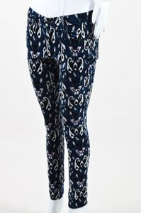 Rag & Bone Navy Black White Printed Corduroy Pants