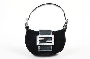 Fendi Velvet Leather Shoulder Bag
