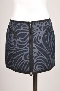 Louis Vuitton Gray Navy Black Mini Skirt