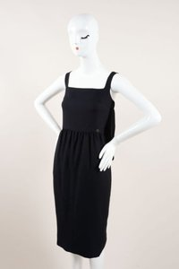 Chanel Silk Crepe Cape Sleeveless Straight Dress