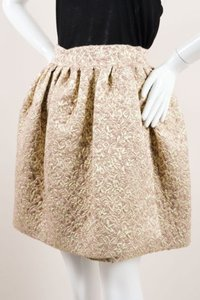Dior Christian Silver Skirt Gold