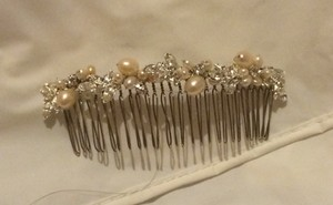 50Timeless Silver with Light Peach and Ivory Pearls and Crystals