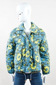 Oilily Blue Green Floral Multi-Color Jacket