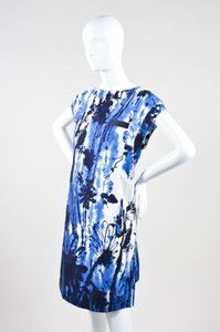 Piazza Sempione short dress Multi-Color Blue White Splatter Print Cotton Sleeveless on Tradesy