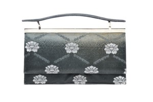 Judith Leiber Metallic Black Clutch