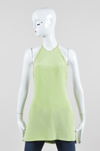 Emilio Pucci Lime Silk Green Halter Top
