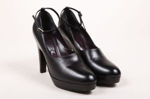 Jil Sander Black Leather Pumps
