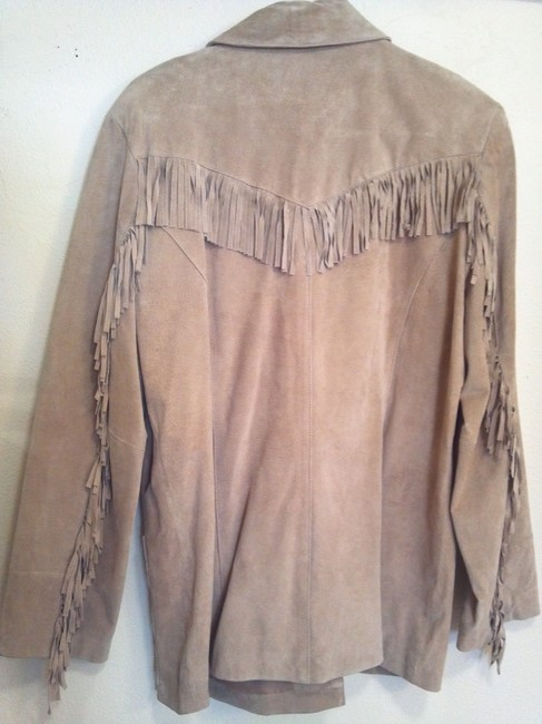 B. Thomas Suede beige Leather Jacket