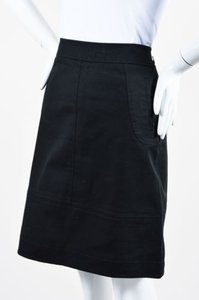 M Missoni Denim Twill Knit A Line Skirt Black