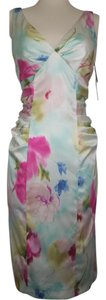David Meister Drape Pencil Floral Dress